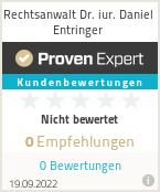 Erfahrungen & Bewertungen zu Rechtsanwalt Dr. iur. Daniel Entringer