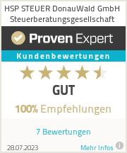 Erfahrungen & Bewertungen zu HSP STEUER DonauWald GmbH Steuerberatungsgesellschaft