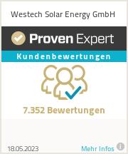 Erfahrungen & Bewertungen zu Westech Solar Energy GmbH