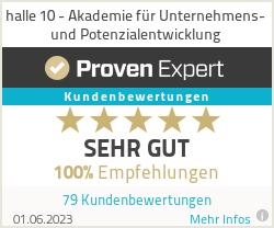 Erfahrungen & Bewertungen zu halle 10 - Akademie für Unternehmens- und Potenzialentwicklung