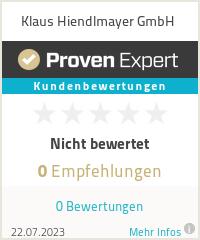 Erfahrungen & Bewertungen zu Klaus Hiendlmayer GmbH
