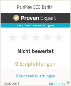 Erfahrungen & Bewertungen zu FairPlay SEO Berlin