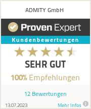 Erfahrungen & Bewertungen zu ADMITY GmbH
