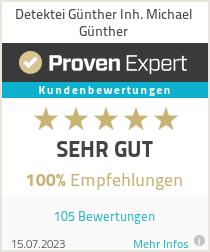 Erfahrungen & Bewertungen zu Detektei Günther Inh. Michael Günther