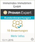 Erfahrungen & Bewertungen zu ImmoIndex Immobilien GmbH