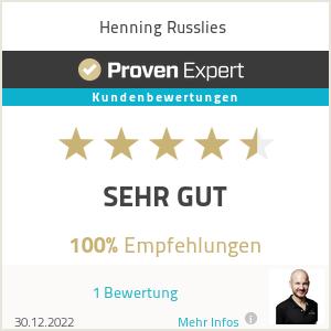 Erfahrungen & Bewertungen zu Henning Russlies