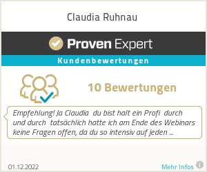 Erfahrungen & Bewertungen zu Claudia Ruhnau