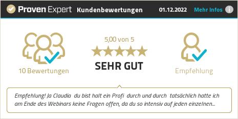 Kundenbewertungen & Erfahrungen zu Claudia Ruhnau. Mehr Infos anzeigen.