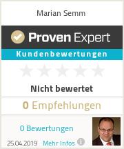 Erfahrungen & Bewertungen zu Marian Semm