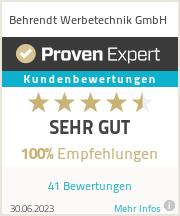 Erfahrungen & Bewertungen zu Behrendt Werbetechnik GmbH