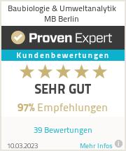 Erfahrungen & Bewertungen zu Baubiologie & Umweltanalytik MB Berlin