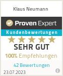 Erfahrungen & Bewertungen zu Klaus Neumann