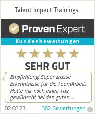 Erfahrungen & Bewertungen zu Talent Impact GbR – Haltung.Wachstum.Mensch sein.