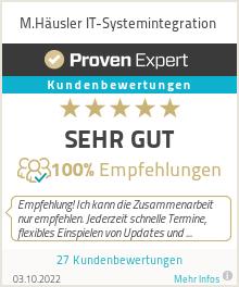 Erfahrungen & Bewertungen zu M.Häusler IT-Systemintegration