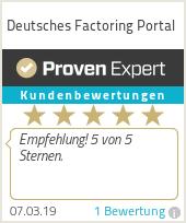 Erfahrungen & Bewertungen zu Deutsches Factoring Portal