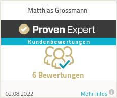 Erfahrungen & Bewertungen zu Matthias Grossmann
