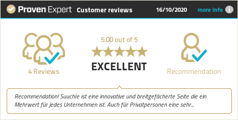 Customer reviews & experiences for Suuchle. Show more information.