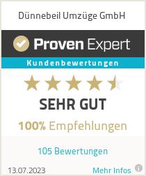 Erfahrungen & Bewertungen zu Dünnebeil Umzüge GmbH
