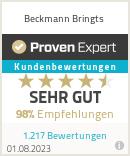 Erfahrungen & Bewertungen zu Beckmann Bringts