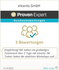 Erfahrungen & Bewertungen zu eleanto GmbH