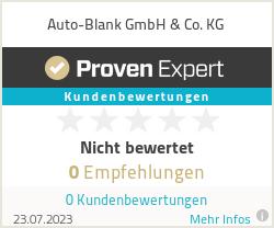 Erfahrungen & Bewertungen zu Auto-Blank GmbH & Co. KG