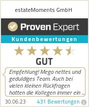 Erfahrungen & Bewertungen zu estateMoments GmbH