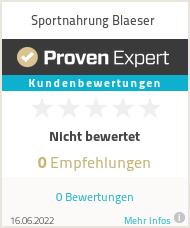 Erfahrungen & Bewertungen zu Sportnahrung Blaeser