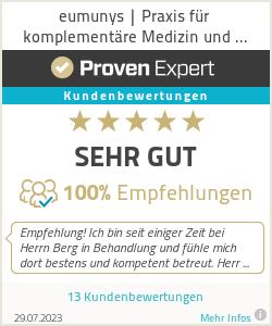 Erfahrungen & Bewertungen zu eumunys | Praxis für komplementäre Medizin und Naturheilkunde