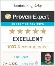 Ratings & reviews for Dominic Bagatzky