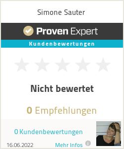 Erfahrungen & Bewertungen zu Simone Sauter