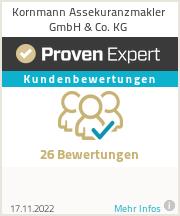 Erfahrungen & Bewertungen zu Kornmann Assekuranzmakler GmbH & Co. KG