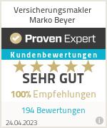 Erfahrungen & Bewertungen zu Versicherungsmakler Marko Beyer