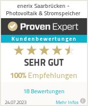 Erfahrungen & Bewertungen zu enerix Saarbrücken - Photovoltaik & Stromspeicher