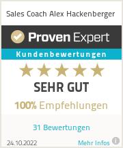 Erfahrungen & Bewertungen zu Sales und Business Coach Alex Hackenberger