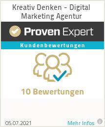 Erfahrungen & Bewertungen zu Kreativ Denken - Digital Marketing Agentur