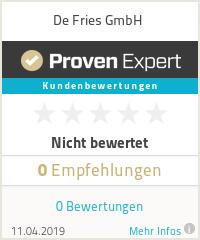 Erfahrungen & Bewertungen zu De Fries GmbH