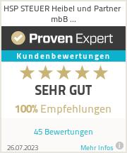 Erfahrungen & Bewertungen zu HSP STEUER Heibel und Partner mbB Wirtschaftsprüfungsgesellschaft Steuerberatungsgesellschaft