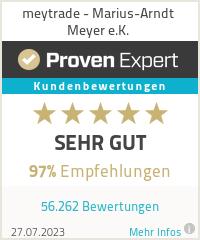 Erfahrungen & Bewertungen zu MeyTrade - Marius-Arndt Meyer e.K.