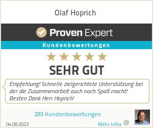 Erfahrungen & Bewertungen zu Olaf Hoprich