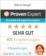 Erfahrungen & Bewertungen zu Selina Haupt