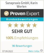 Erfahrungen & Bewertungen zu Sanapraxis GmbH, Karin Werlen