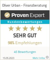 Erfahrungen & Bewertungen zu Oliver Urban - Finanzberatung