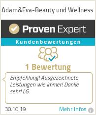 Erfahrungen & Bewertungen zu Adam&Eva-Beauty und Wellness