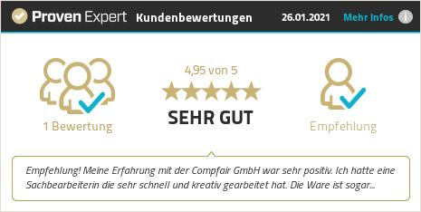 Kundenbewertungen & Erfahrungen zu Compfair GmbH. Mehr Infos anzeigen.