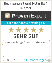 Erfahrungen & Bewertungen zu Rechtsanwalt Buerger