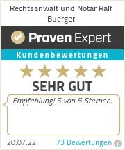 Erfahrungen & Bewertungen zu Buerger, Schmaltz Partnerschaftsgesellschaft - Rechtsanwalt und Steuerberater