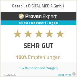 Erfahrungen & Bewertungen zu Baseplus DIGITAL MEDIA GmbH