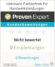 Erfahrungen & Bewertungen zu Liebmann Fachbetrieb für Handwerksleistungen
