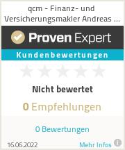 Erfahrungen & Bewertungen zu qcm - Finanz- und Versicherungsmakler Andreas Mannheimer