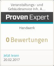 ProvenExpert-Profil von Veranstaltungs- und Gebäudeservice Inh. A. Eberle anzeigen